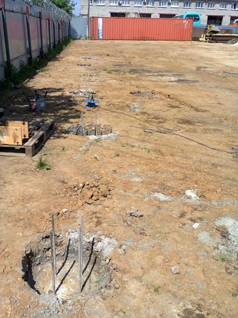 Строительство нового склада. Фундамент из буронабивных свай