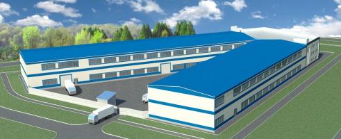 Проект производственного комплекса с административным зданием общей площадью 8000 кв.м