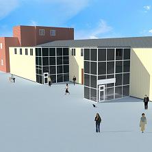 Проект реконструкции склада под производственно-складские помещения. Общий вид.