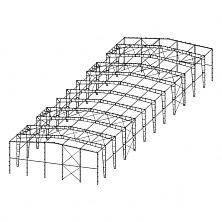 Схема однопролётного здания