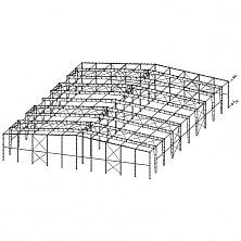 Схема двухпролётного здания