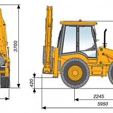 Габаритные размеры гидромолота на базе MST M544.