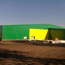 Строительство завершено. Подготовка к обустройству прилегающей территории картофелехранилища.