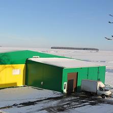 Овощехранилище в зимний период