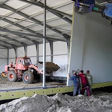 Монтаж внутренних перегородок склада