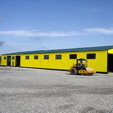 Устройство прилегающей территории склада согласно проектным решениям