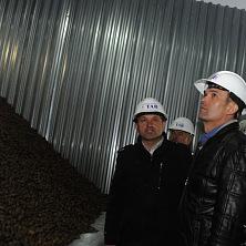 Президент Чувашии М. Игнатьев посетил новое картофелехранилище.