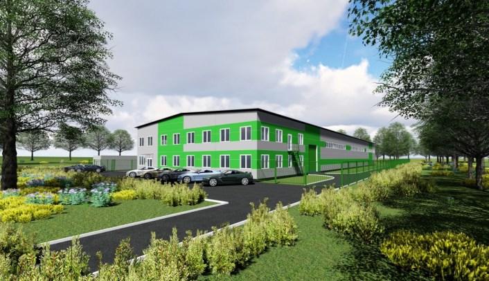 Проект производственно-складского здания с административно-бытовым корпусом, заказчик ООО