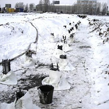 Подготовка фундамента в зимний период