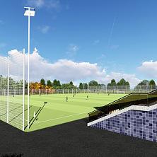 Вид на футбольное поле. Проект стадиона выполнен компанией СК ТАВ