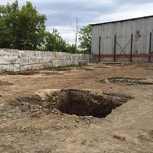 Начало строительства - подготовка грунта под устройство фундамента