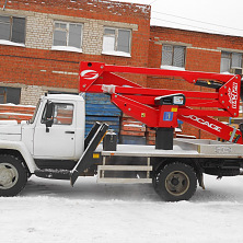 Автовышка Socage DA 324 на шасси ГАЗ 3309 предлагается в аренду
