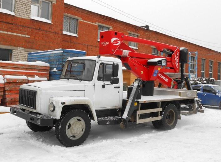 Аренда автовышки Socage DA 324 - грузоподъемность 250 кг, рабочая высота подъема по 24 м