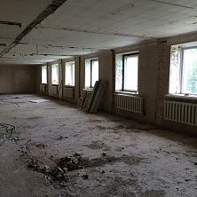Реконструкция помещения: проведен демонтаж существующих перегородок