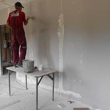 Ведутся работы по обшивке стен
