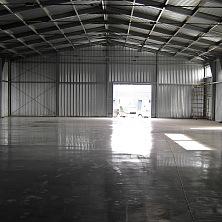 Бетонные полы склада - армированные, с упрочнённым верхним слоем