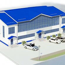 Проектное решение торгового здания.