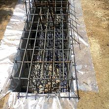 Подготовка армированных колонн