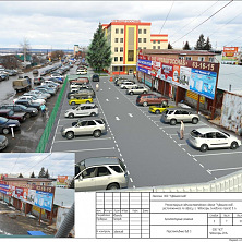 Проектное предложение реконструкции торгово-складского комплекса. Вид 3. Парковочные площади