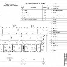 План первого этажа. Проектное предложение реконструкции торгово-складского комплекса.