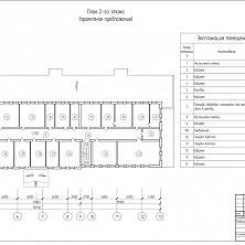 План второго этажа. Проектное предложение реконструкции торгово-складского комплекса.