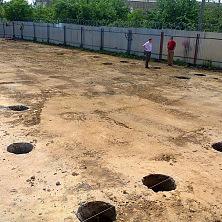 На строительстве производственного цеха завершены земляные работы