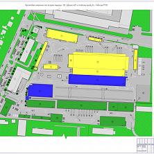 Генеральный план застройки всего торгово-складского комплекса