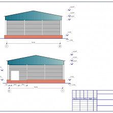 Проект промышленного холодильника: цветовое решение фасада здания