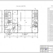 Проект магазина и кафе. План второго этажа