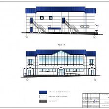 Проект магазина и кафе. Цветовое решение фасада здания