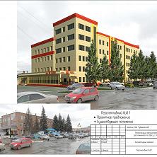 Проектное предложение реконструкции торгово-складского комплекса. Вид 1