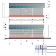 Проект промышленного холодильника: цветовое решение фасада