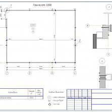 Проект промышленного холодильника: план на отметке 0,000