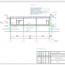 Проект надстройки промышленного здания: конструктивные решения, разрез