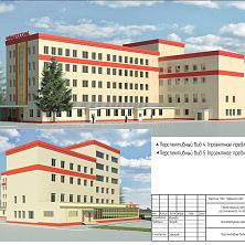 Проектное предложение реконструкции торгово-складского комплекса. Трехэтажный пристрой.