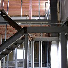 Металлические конструкции склада. административно-бытовые помещения