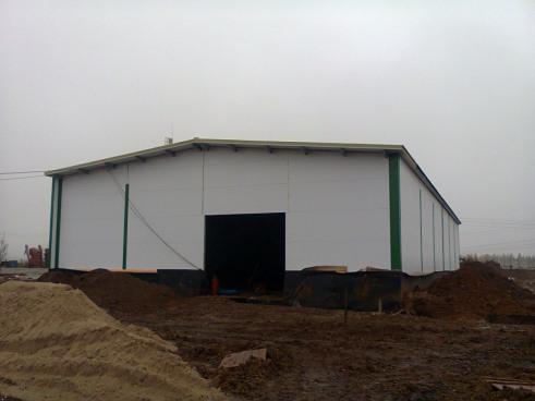 Строительство овощехранилища. Первая очередь завершена