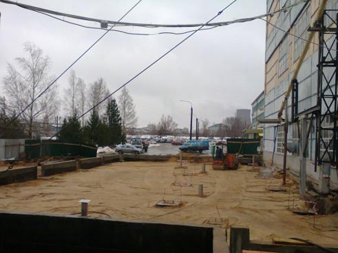 Реконструкция производственного здания. Подготовка фундамента