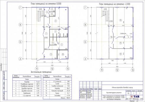 Проект административно-бытового корпуса вцехе металлообработки