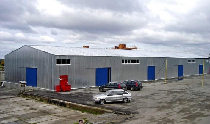 Холодный склад площадью 1200 кв. м. Чебоксары, Ишлейский проезд. Построен Строительной компанией ТАВ в 2013 году