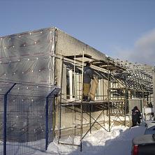 Утепление фасада здания базальтовыми плитами